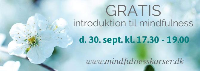 gratis introduktion til mindfulness september 2019